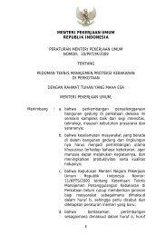 Permen PU no. 20 tahun 2009 ttg Pedoman ... - Ditjen Cipta Karya