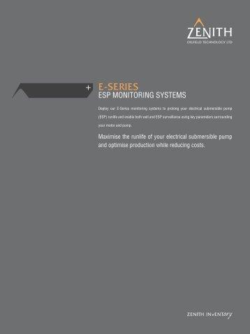 E-Series - ESP Monitoring Systems - Zenith Oilfield Technology Ltd