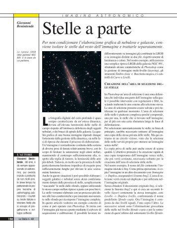 """pubblicato sulla rivista """"Le Stelle"""" - Giovanni Benintende"""