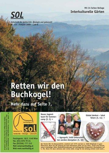 SOL Retten wir den Buchkogel! - SOL - Menschen für Solidarität ...