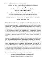 Análise da Aura e Eventos Epileptogênicos em Sinais do ... - SBIS