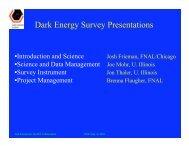 Dark Energy Survey Presentations