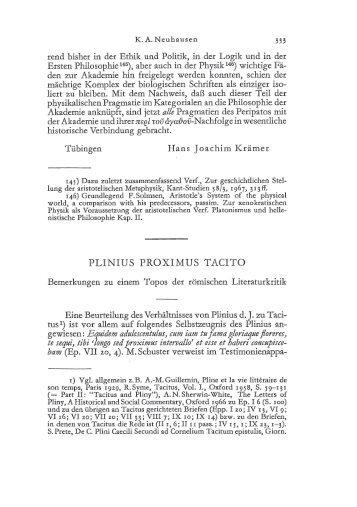 PLINIUS PROXIMUS TACITO