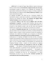 1 - - ACTA 30.- En la ciudad de Tijuana, Baja California, siendo las ...