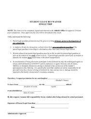 Bus Waiver Form - Parent - Lake Havasu Unified School District