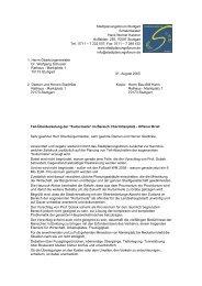 Offener Brief - Stadtplanungsforum Stuttgart