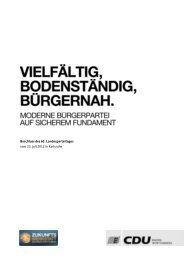 Beschluss des 63. Landesparteitages vom 23. Juli 2012 in Karlsruhe