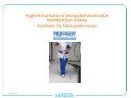 Hygieniakartoitus siivouspalvelukonseptin kehittämisen tukena