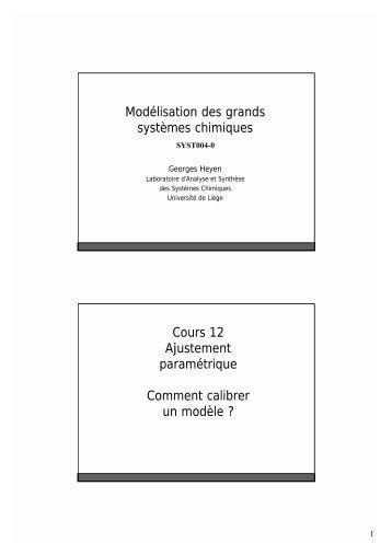 Chapitre 12 : Identification paramétrique - LASSC - Université de ...