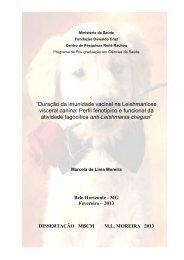 """""""Duração da imunidade vacinal na Leishmaniose visceral canina ..."""
