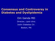 Consensus and Controversy in Diabetes and Dyslipidemia