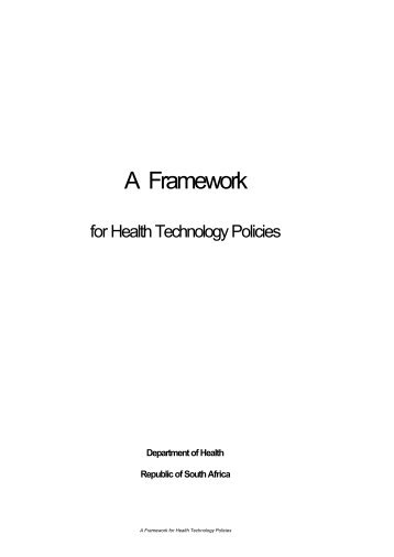 DOH Framework for Health Technology Policy - South African ...