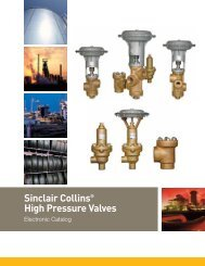 Sinclair Collins® High Pressure Valves - Norman Equipment Co.