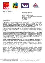 Montreuil, le 19 mars 2013 Madame Marylise LEBRANCHU Ministre ...