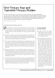 First-Century Jews and Twentieth-Century Muslims - International ...