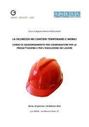 la sicurezza nei cantieri temporanei e mobili - Ordine dei Geologi ...