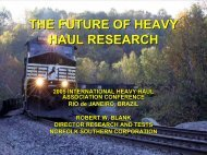 THE FUTURE OF HEAVY HAUL RESEARCH - International Heavy ...