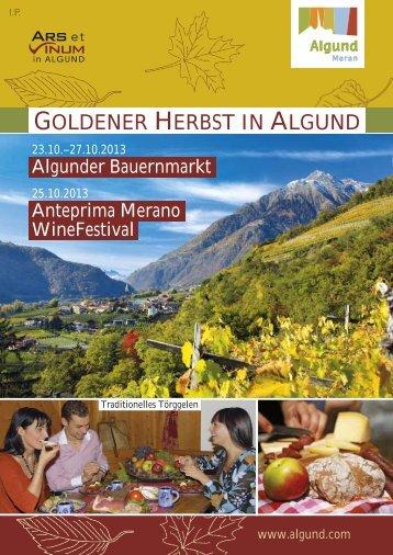 GOLDENER HERBST IN ALGUND