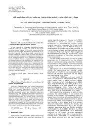 NIR prediction of fruit moisture, free acidity - Grasas y Aceites