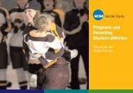 Pregnant and Parenting Student-Athletes - National Association of ...