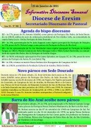 Informativo Semanal do dia 23 de Janeiro de 2011. - Diocese de ...