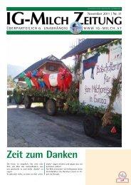 31. Zeitung, November 2011 - IG-Milch