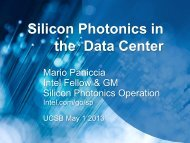 Silicon Photonics in the Data Center - Institute for Energy Efficiency