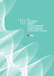 Progress Report of the Internal Audit Division of the EDP Group