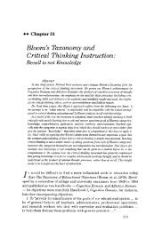 Bloom's Taxonomy and Critical Thinking Instruction: - The Critical ...