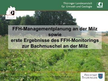 FFH-Managementplanung an der Milz sowie erste Ergebnisse des ...