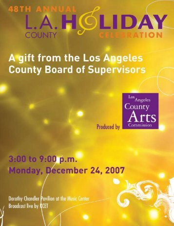 Program - Los Angeles County Arts Commission