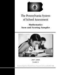 2007-2008 Grade 6 Mathematics Item and Scoring Sampler