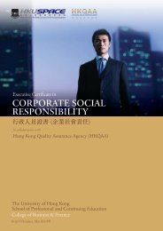 CORPORATE SOCIAL RESPONSIBILITY - HKU School of ...