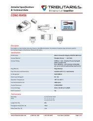 CONC-RJ456 - RJ45 Connectors for CAT6 - Tributaries Cable