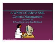 A Writer's Guide to XML Content Management - Center for ...