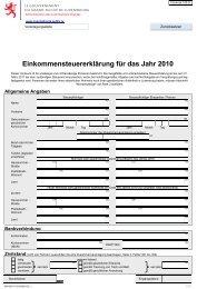 Einkommensteuererklärung für das Jahr 2010 - Administration des ...