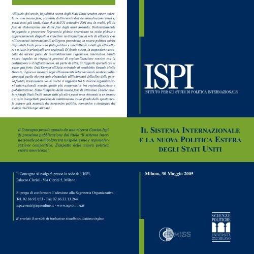 il sistema internazionale e la nuova politica estera degli stati uniti - Ispi