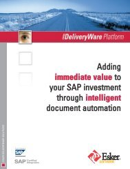 Adding immediate value to your SAP investment through ... - Esker