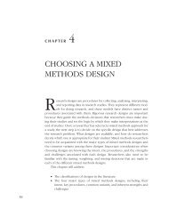 choosing a mixed methods design - SF Coordinating Center Study ...