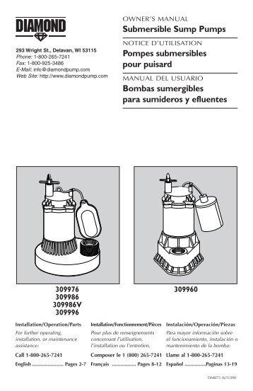 Submersible Sump Pumps Pompes submersibles ... - Princess Auto