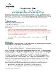 Clinical Review Criteria: Cochlear Implant Device - Group Health ...