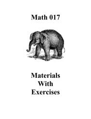 Math 017 Materials With Exercises
