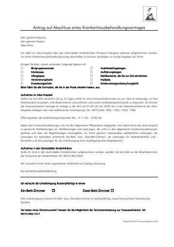 Krankenhausbehandlungsvertrag 19.02.2012 - Alice-Hospital
