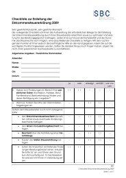 Checkliste zur Erstellung der Einkommensteuererklärung 2009
