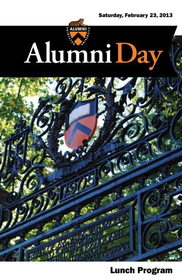 Alumni Day Luncheon and Awards Ceremony Program [PDF]