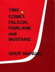 DEMO - 1965 Comet Falcon Fairlane Mustang Shop Manual