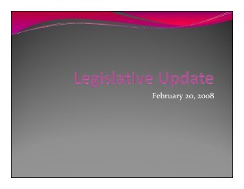 Legislative Update - University of Hawaii