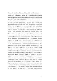 bando GURI gara SERVIZI DI ASSISTENZA TECNICA E ...
