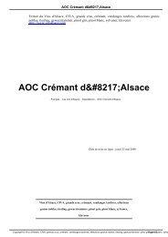 AOC Crémant d'Alsace - Les Vins d'Alsace