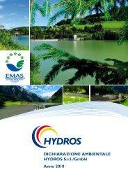 DICHIARAZIONE AMBIENTALE HYDROS S.r.l./GmbH Anno 2010